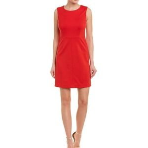 DVF Carrie Crewneck Sheath Dress Red